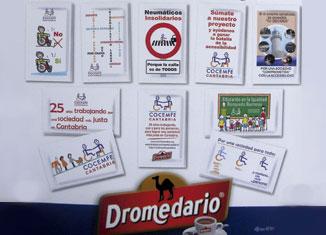 COCEMFE Cantabria en los azucarillos de Café Dromedario
